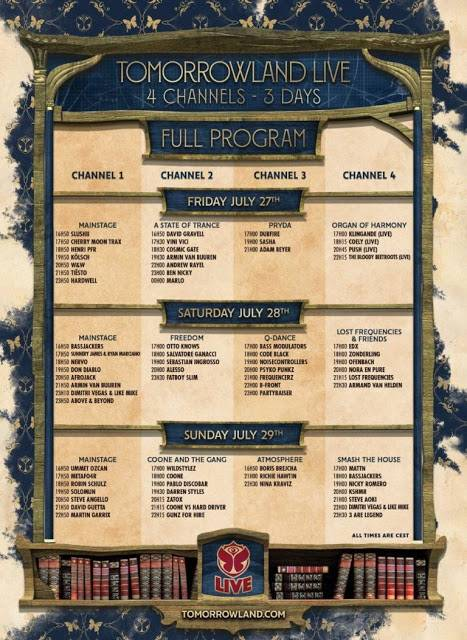 Tomorrowland-Week2-Schedule